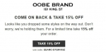 Oobe Brand coupon code