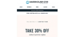 Warehouse One coupon code