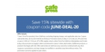Cafe Press coupon code