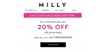 Milly coupon code