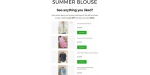 Summer Blouse coupon code