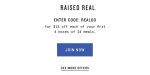 Raised Real coupon code