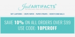 Just Artifacts coupon code