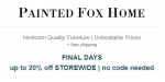 Painted Fox coupon code