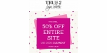True 2 Size Shoes coupon code