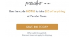 Parabo Press discount code