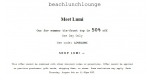 Beach Lunch Lounge coupon code