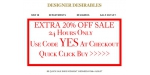 Designer Desirables coupon code