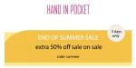 Hand In Pocket coupon code