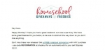 Homeschool Giveaways coupon code
