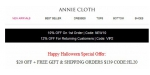 Annie Cloth coupon code