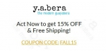 Y.A.Bera Clothing coupon code