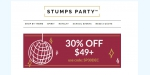Stumps Party coupon code