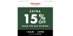 Peltz Shoes coupon code