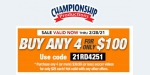 Championship Productions coupon code